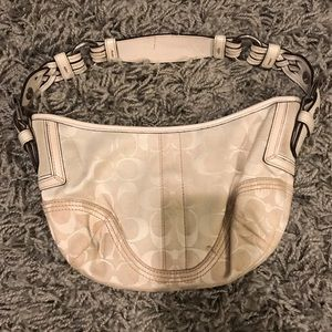 Cream coach shoulder bag